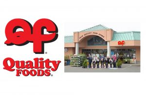 Quality Foods logo and storefront